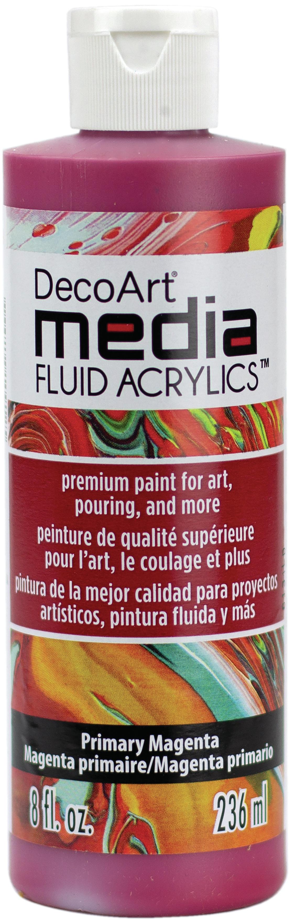 Media Fluid Acrylic Paint 8oz-Primary Magenta
