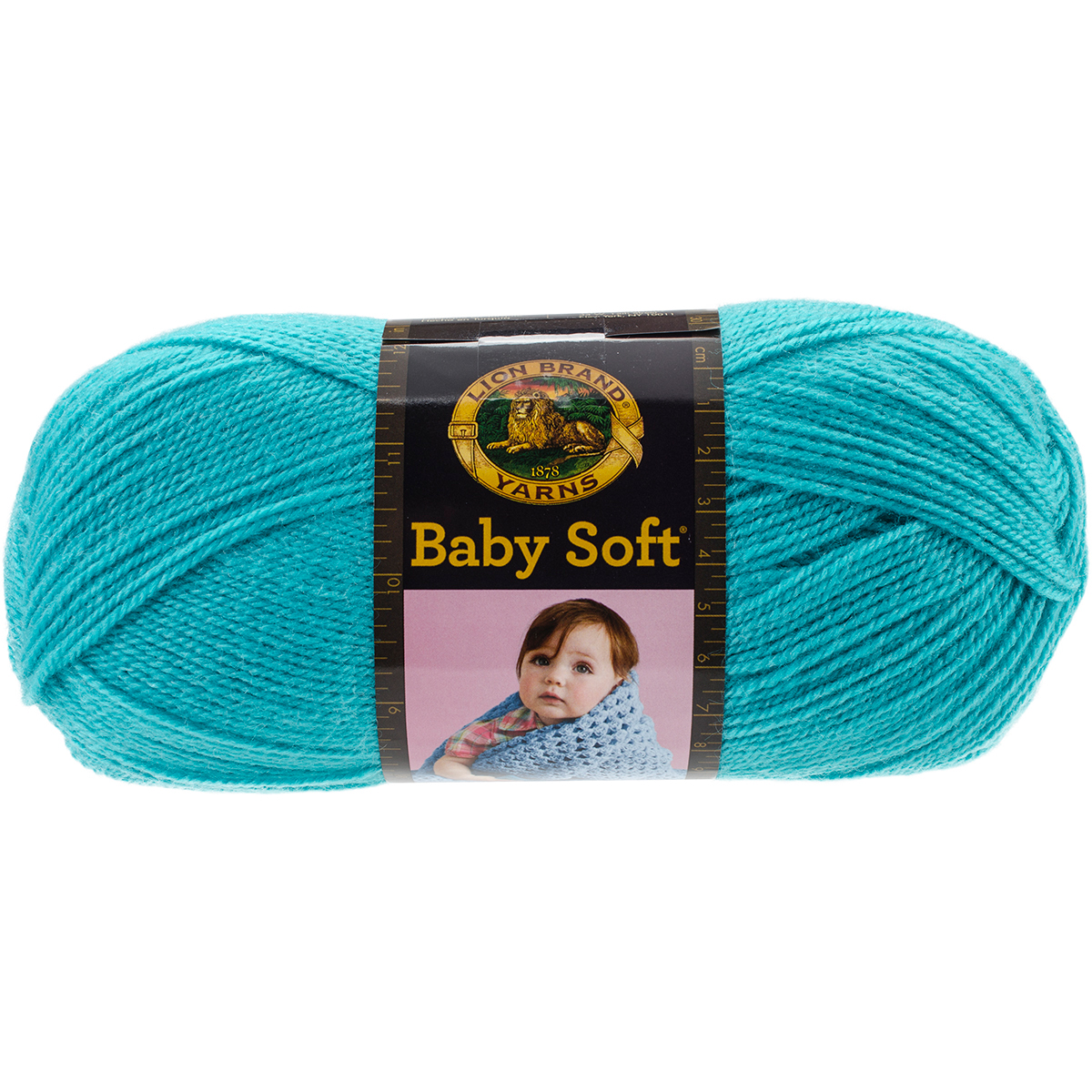 Lion Brand Yarn 920-178 Teal Babysoft Yarn Multicolor