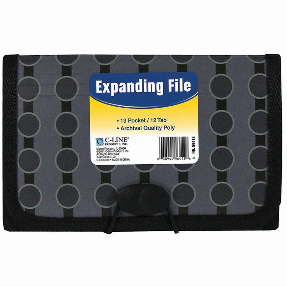 13-Pocket Coupon Expanding File-Circles 56412
