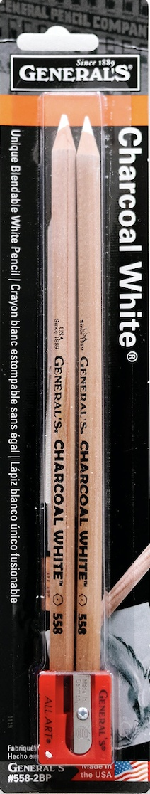 Charcoal White Pencils 2//Pkg-2B 5582BP