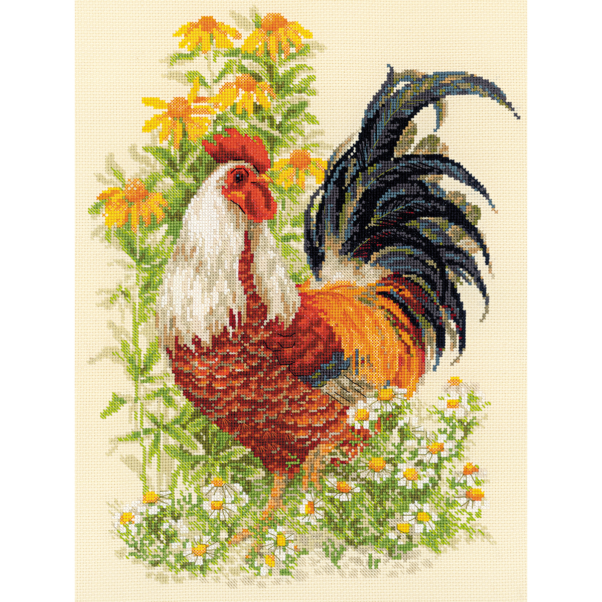 "RIOLIS Counted Cross Stitch Kit 11.75/""X15.75/""-Rooster R1479 14 Count"