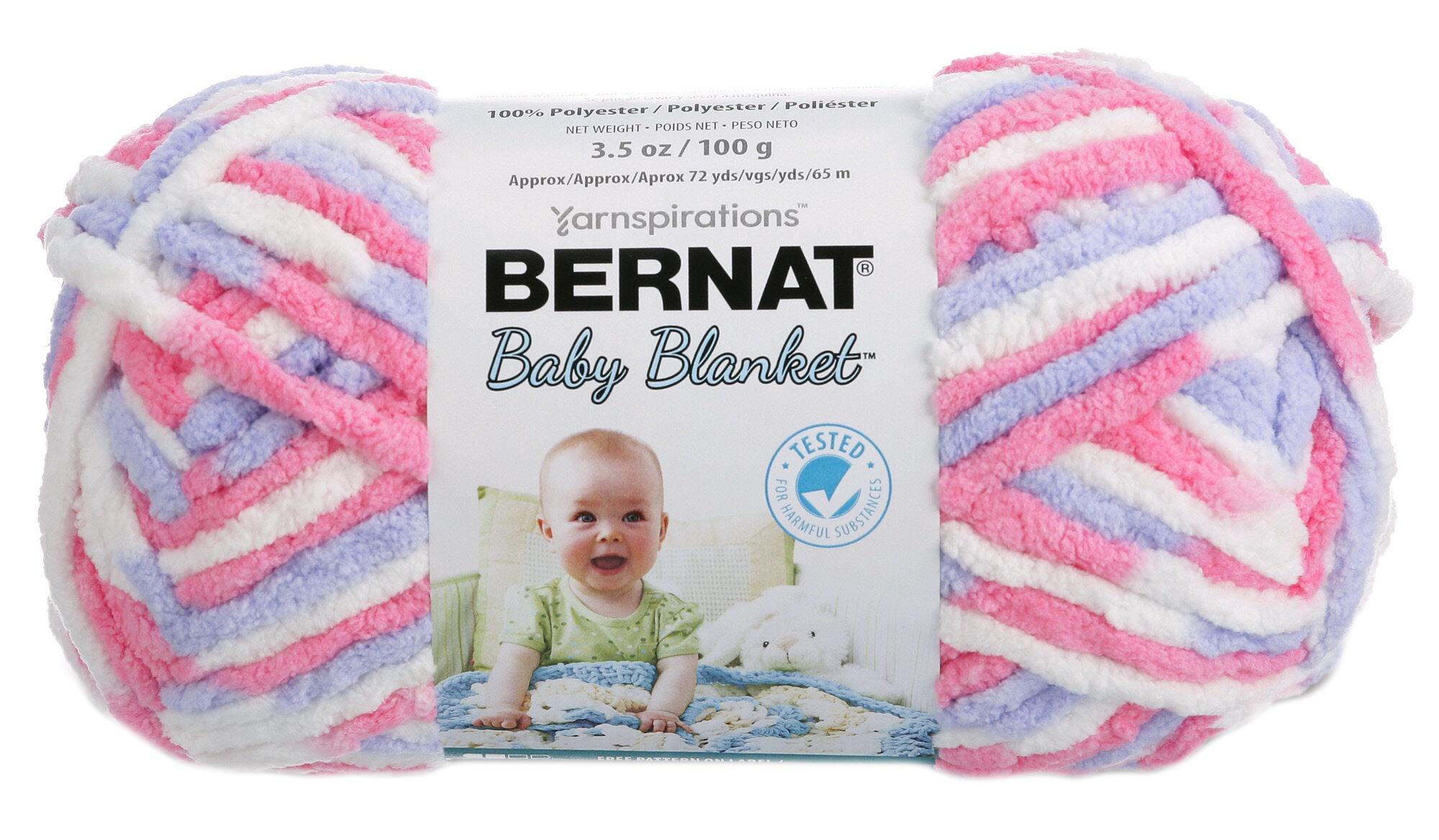 161103-3305 Bernat Baby Blanket Yarn-Pink /& Blue Ombre