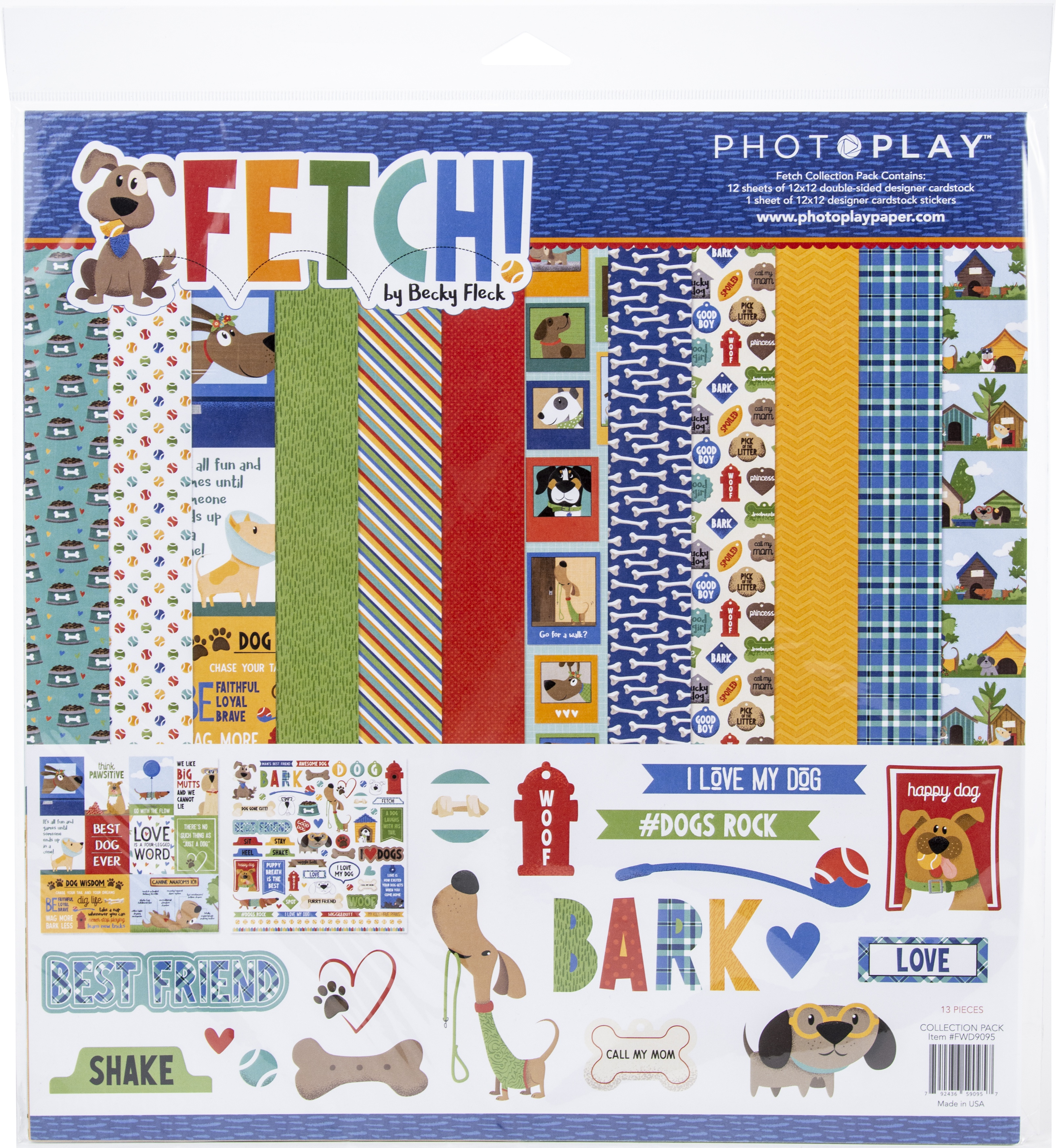 """PhotoPlay Collection Pack 12/""""X12/"""" Fetch 792436590957"""