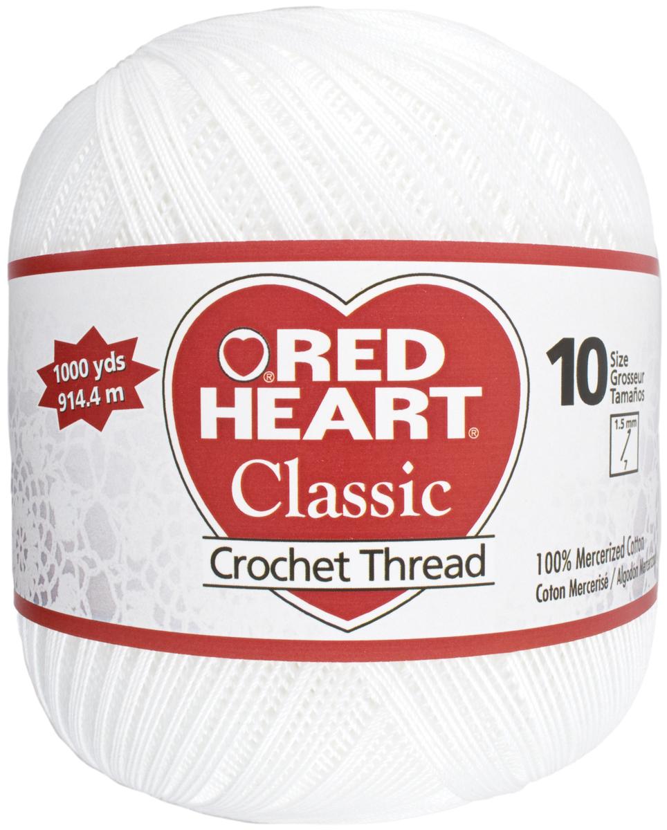 Red Heart Classic Crochet Thread Size 10 White Ebay