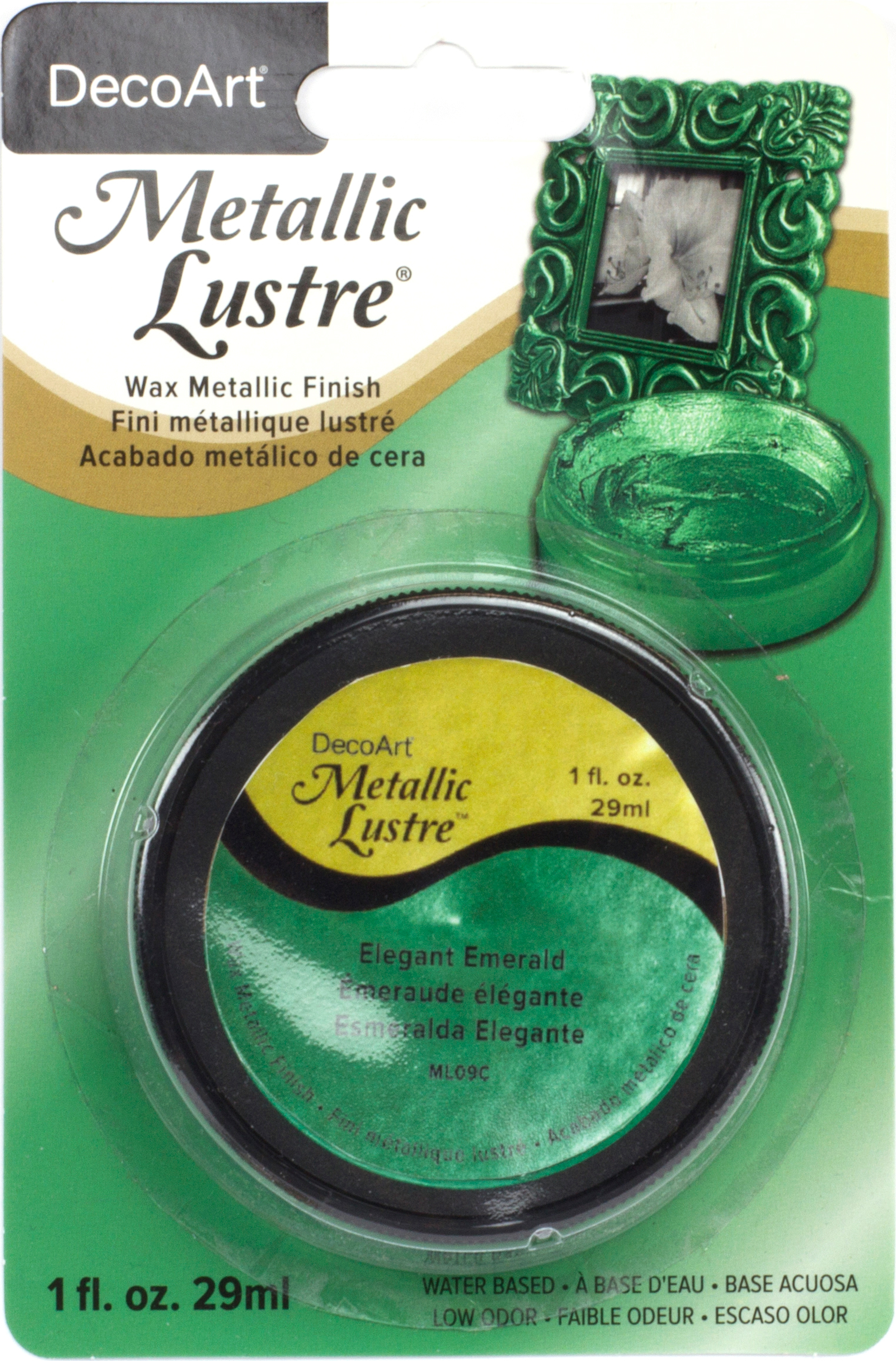 DecoArt Metallic Lustre Wax Finish, 1 oz, Elegant Emerald