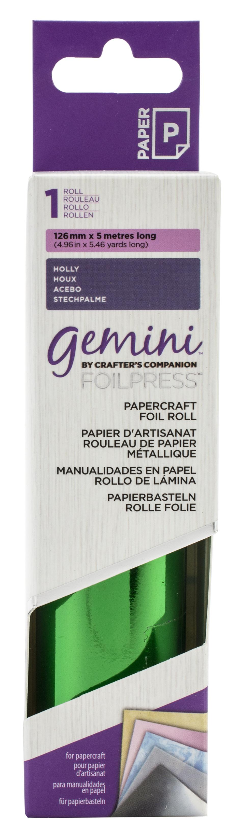 Gemini FoilPress Papercraft Foil Roll-Holly