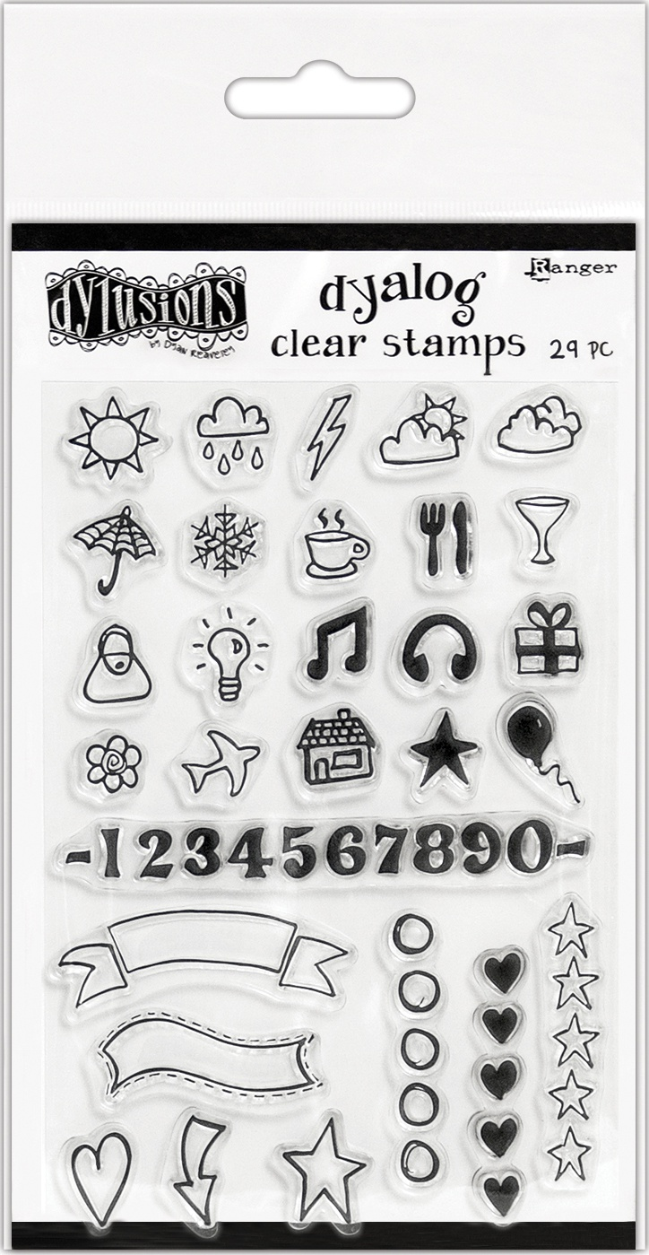 """Dyan Reaveley's Dylusions Clear Stamps 4""""X8""""-The Full Packag"""