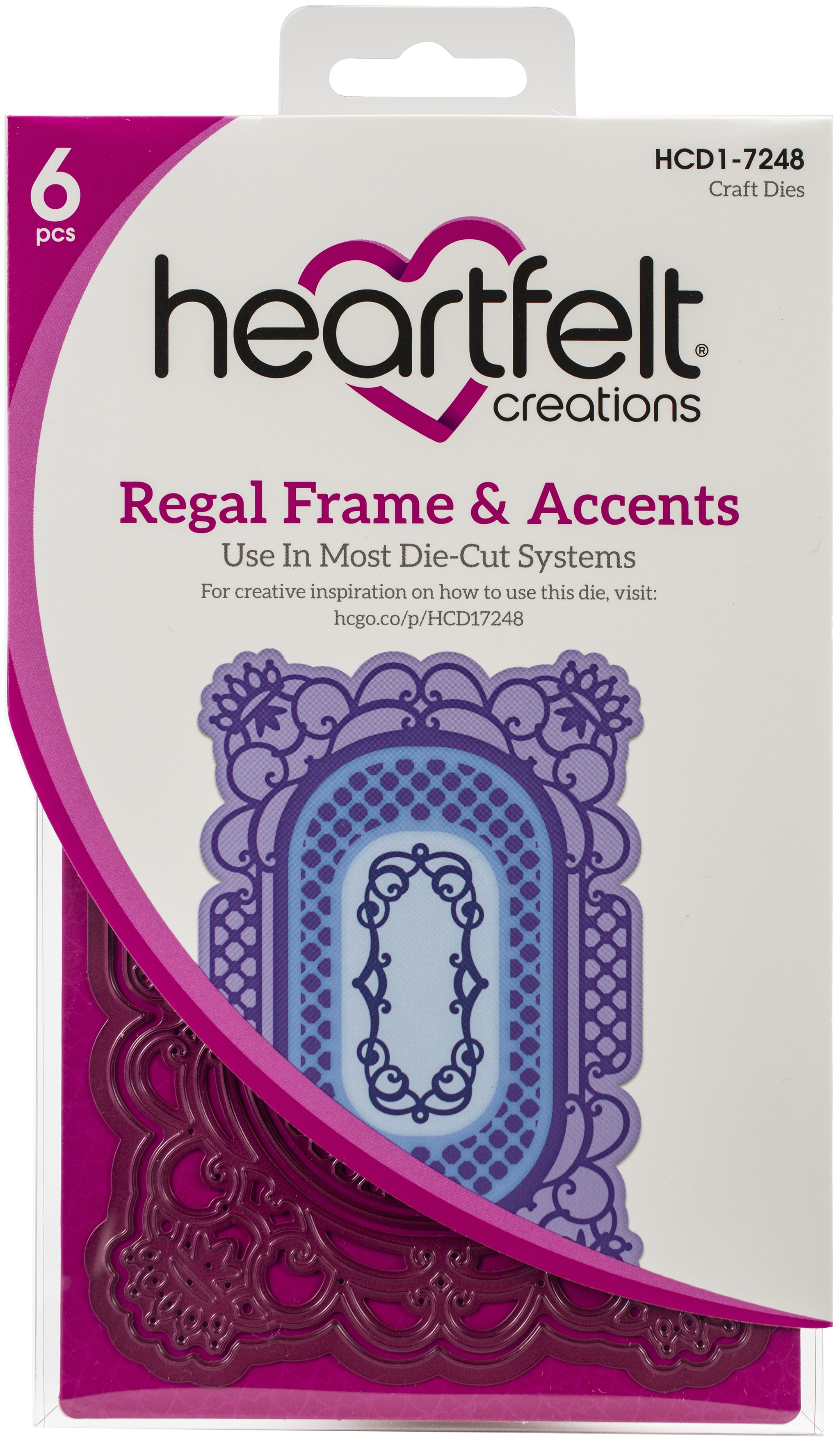 """Heartfelt Creations Frame /& Accents Dies-Regal 1.25/"""" To 6/"""""""