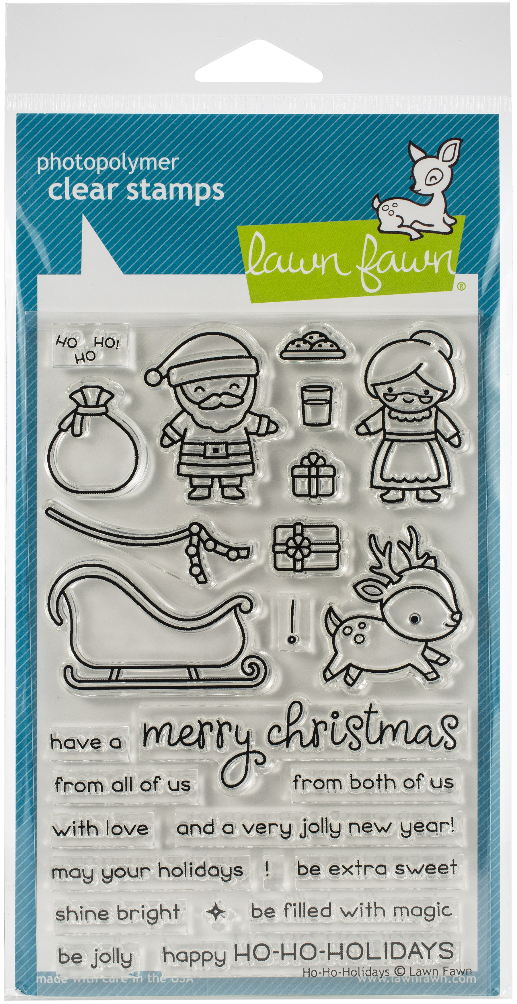 "Lawn Fawn Clear Stamps 4/""X6/""-Yeti Or Not"
