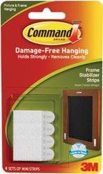 3M Command Frame Stabilizer Strips White 4 Sets/Pkg