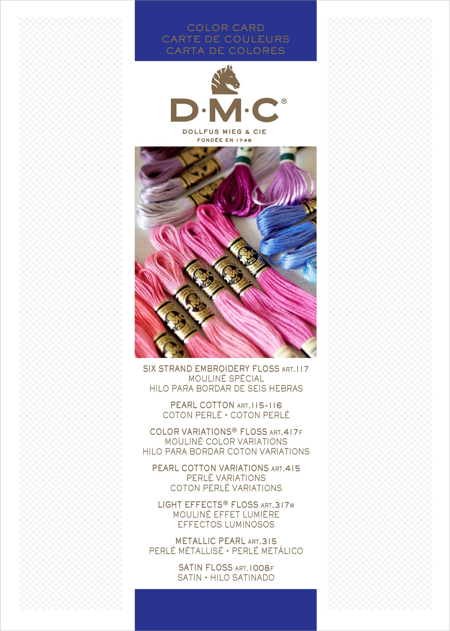 DMC-Needlework-Threads-Printed-Color-Card