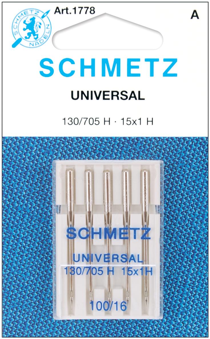 25 Schmetz Universal Sewing Machine Needles 130//705H 15x1H Size 120//19 by Schmetz