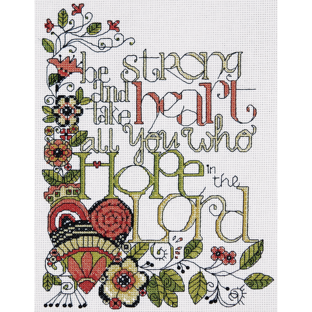 Tobin 14 Count Bless This House Counted Cross Stitch Kit 7 by 18-Inch