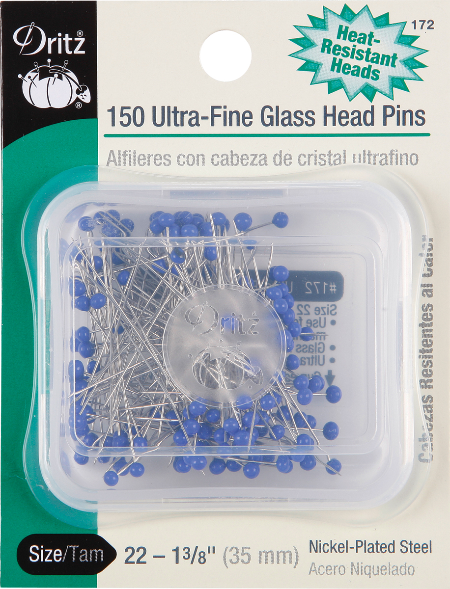 Ultra-Fine Glass Head Pins-Size 22 150/Pkg