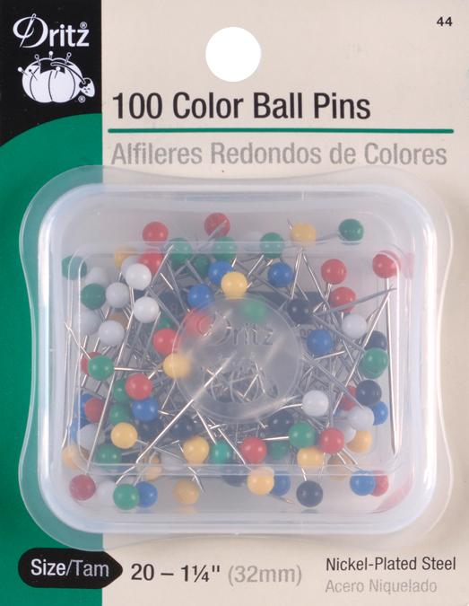 Color Ball Pins-Size 20 100/Pkg