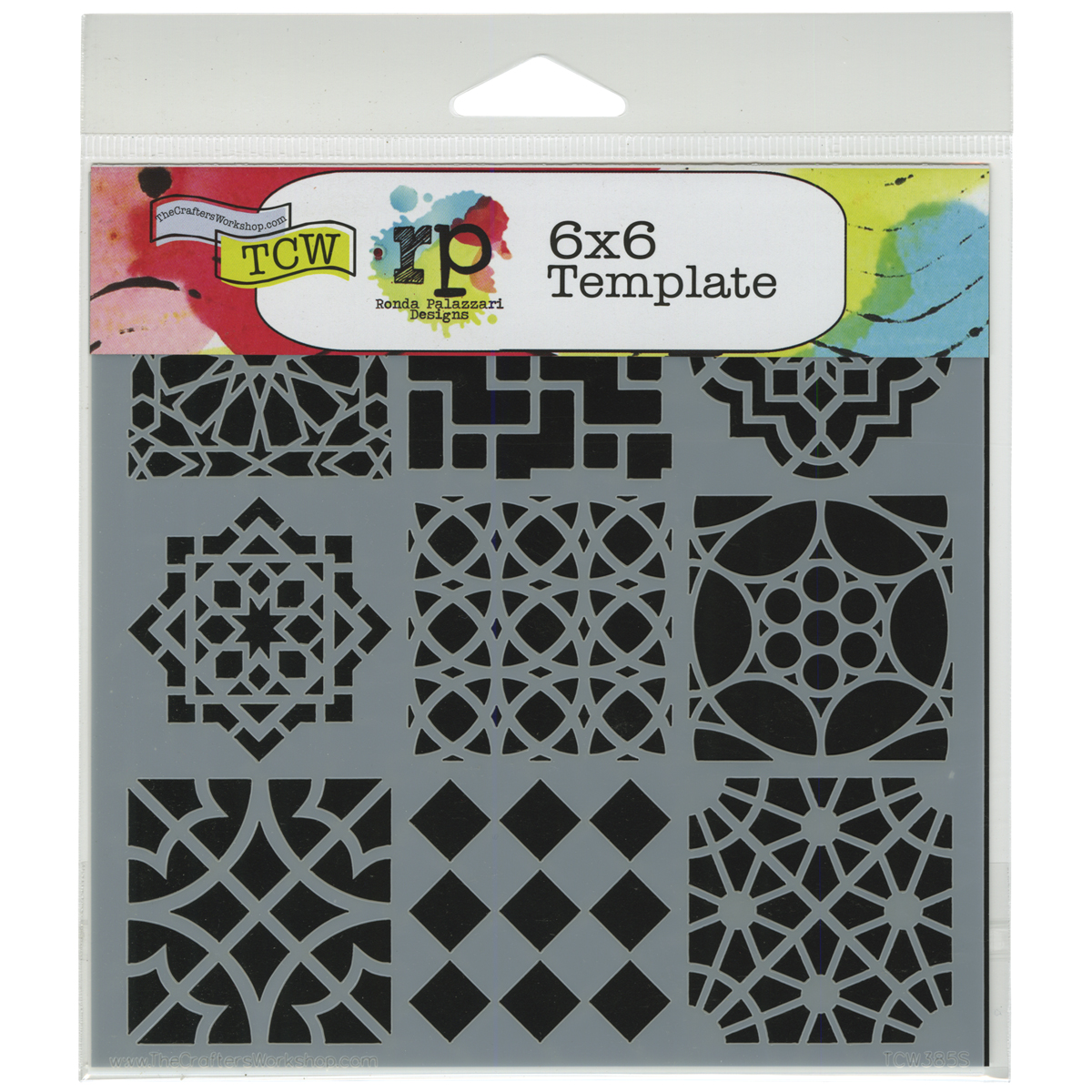 """Crafter's Workshop Template 6""""X6""""-Moroccan Tiles"""