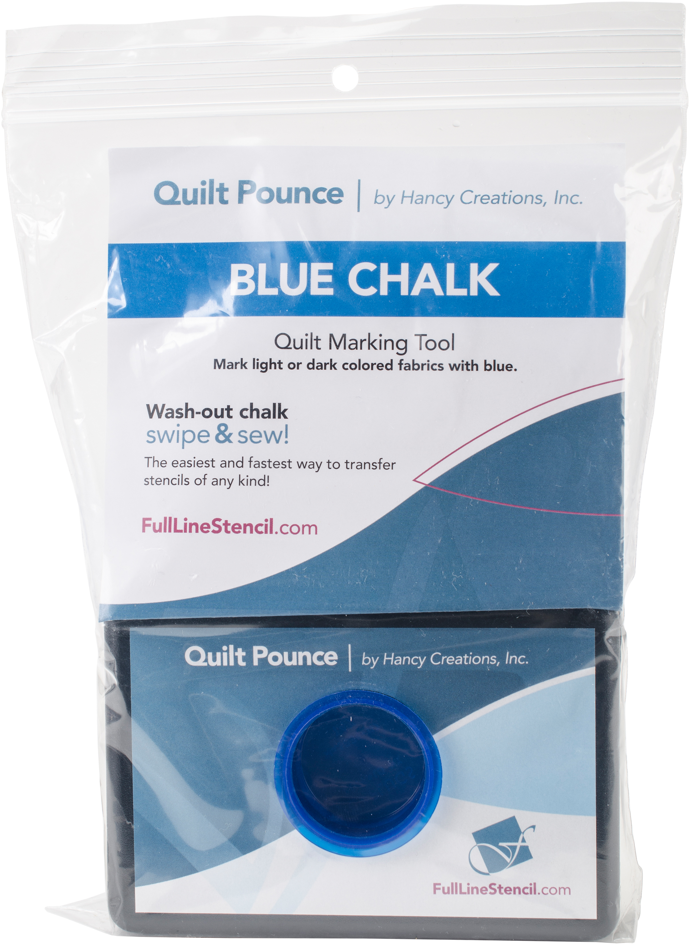 White Hancy 4-Ounce Quilt Pounce Pad with Chalk Powder