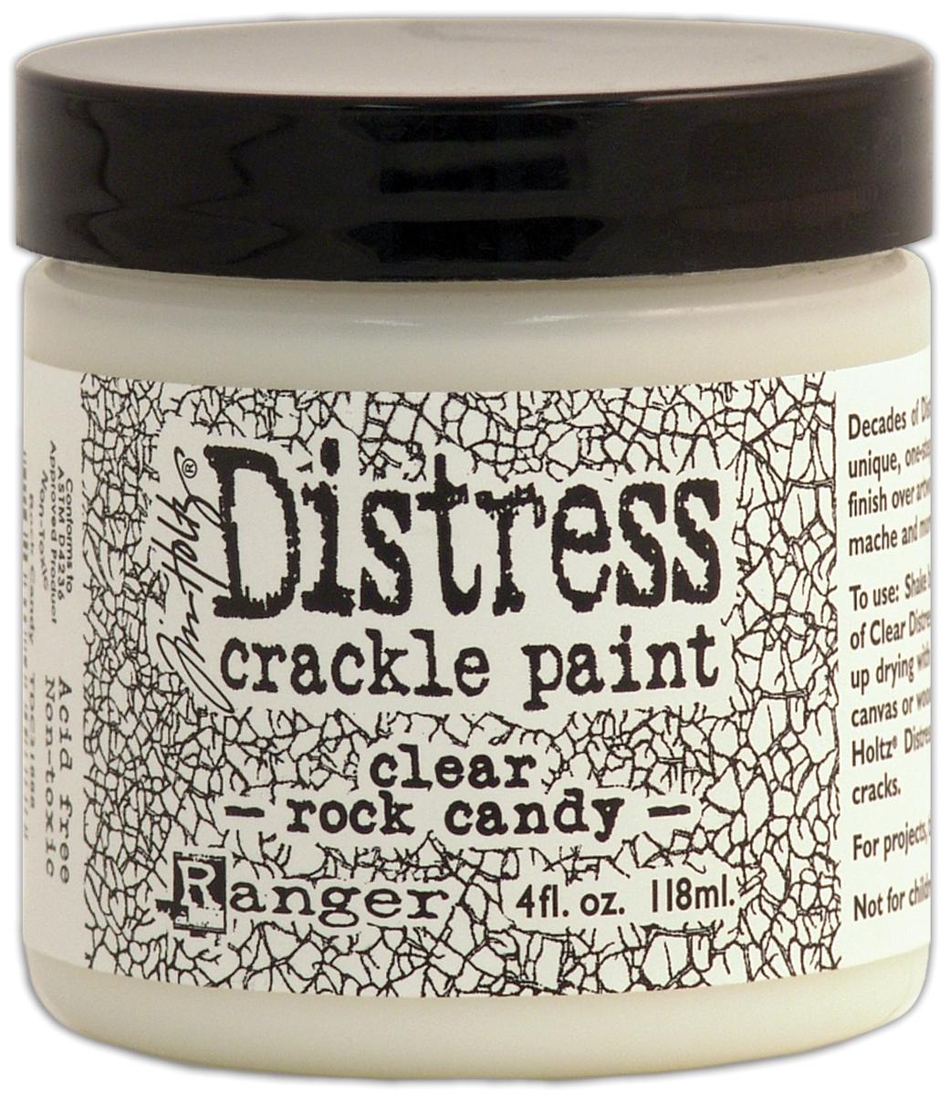 Distress Crackle Paint 4oz-Clear Rock Candy