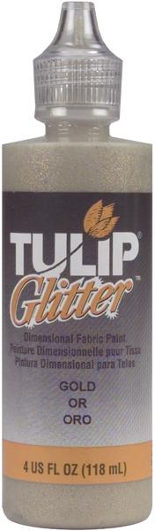 Tulip Dimensional Fabric Paint 4oz-Glitter - Gold