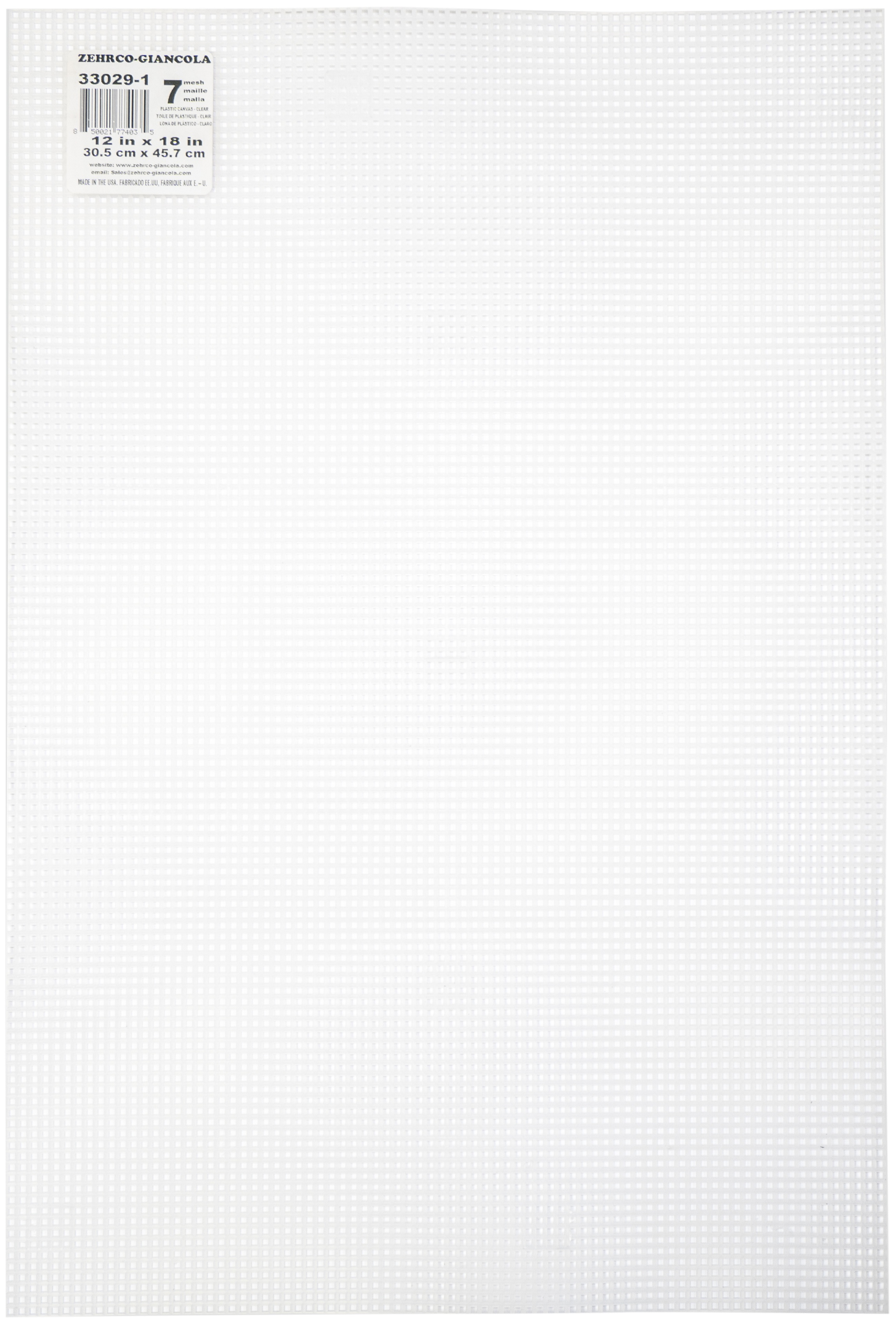 "Plastic Canvas 7 Count 12""X18""-Clear"