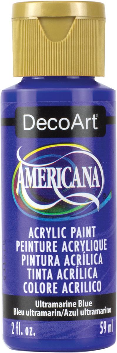 Americana Acrylic Paint 2oz-Ultramarine Blue - Transparent