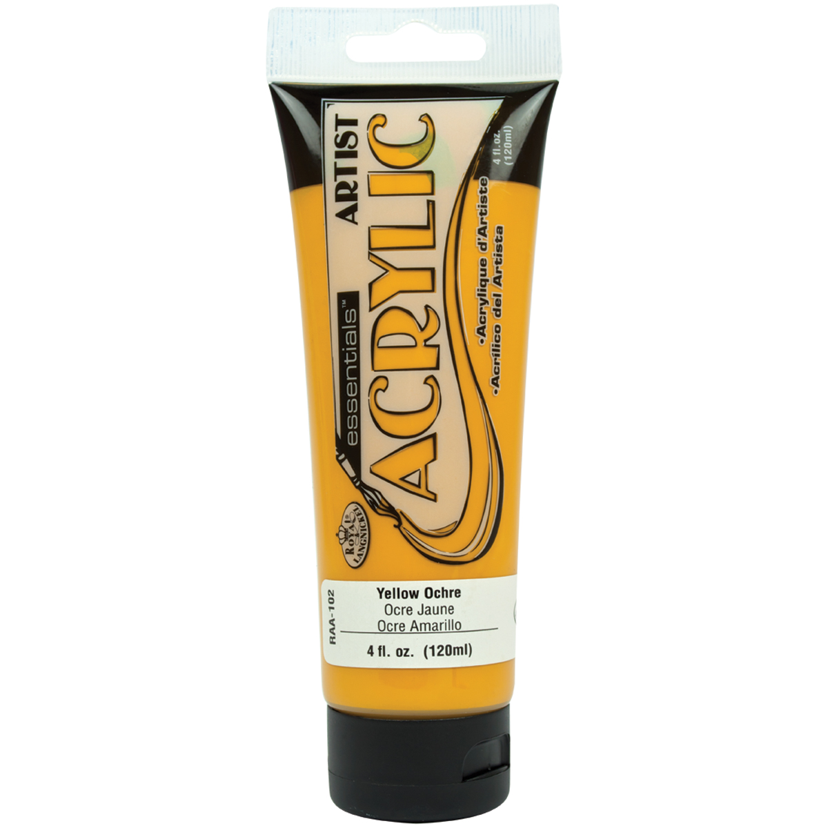 Essentials-Acrylic-Paint-4Oz-Yellow-Ochre-RAA-102