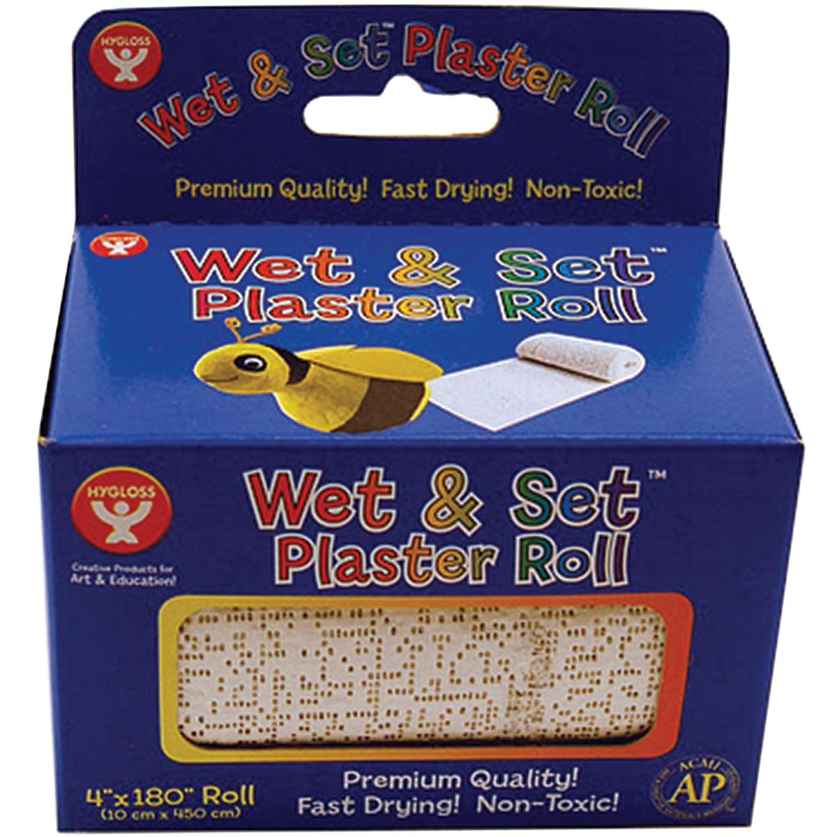 """Wet & Set Plaster Roll 4""""X180""""-"""
