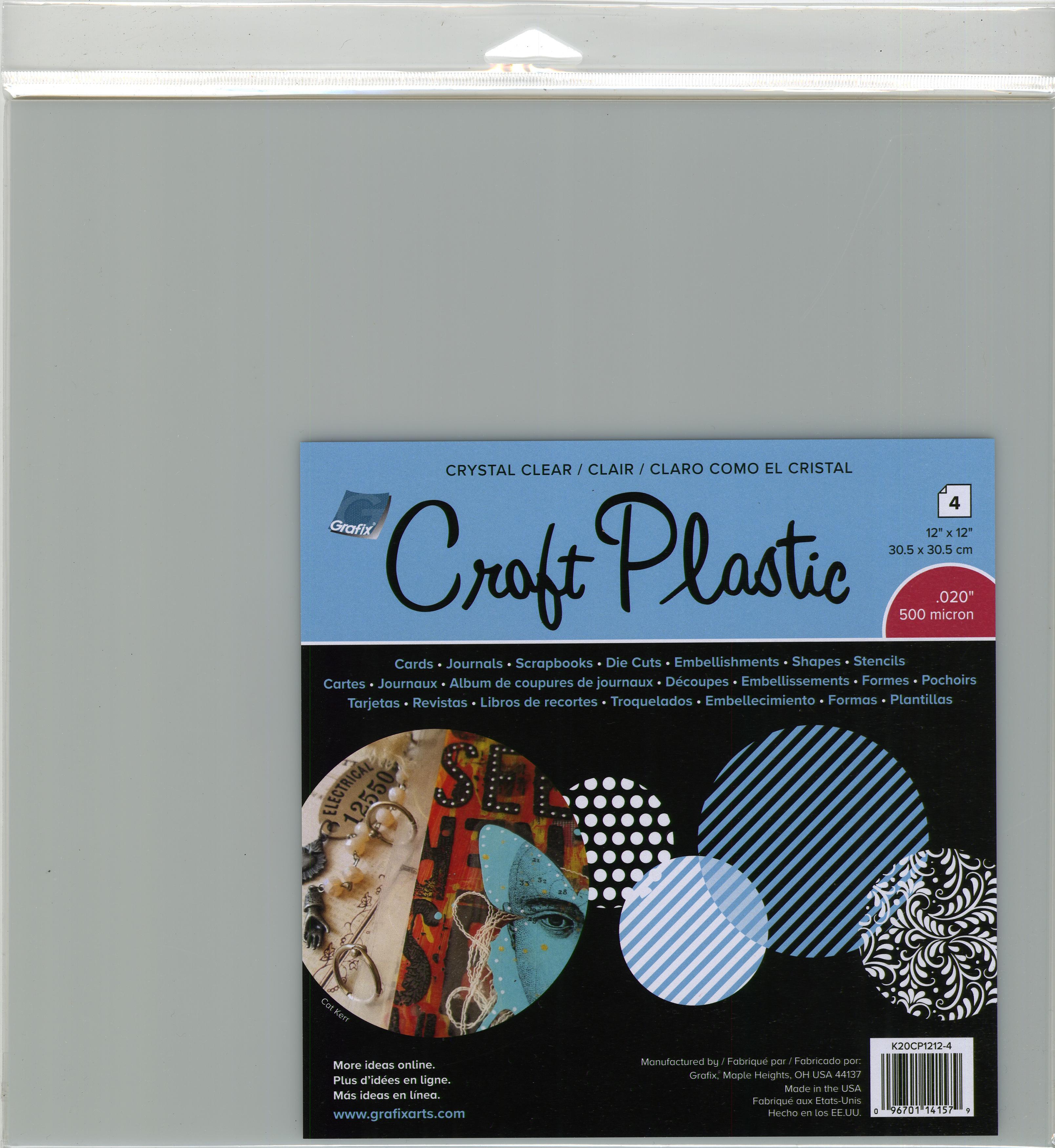 Craft-Plastic-Sheets-12-034-X12-034-4-Pkg-Clear-020