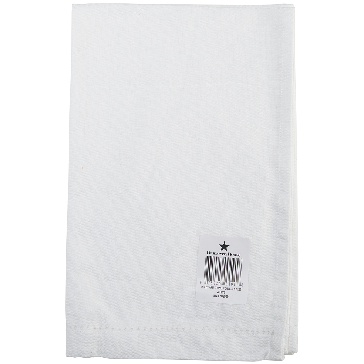 "Cotton/Linen Blend Hand Towel 17""X27""-White"