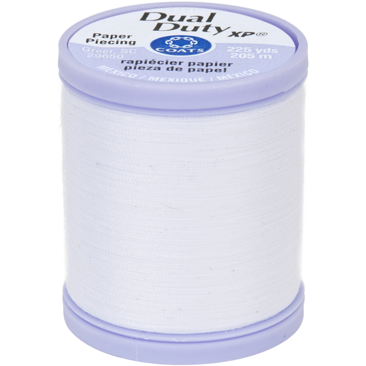Dual Duty XP Paper Piecing Thread 225yd White S942-0100