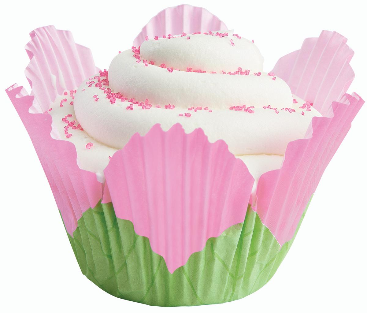 Fancy Standard Baking Cups-Petal Pink 24/Pkg