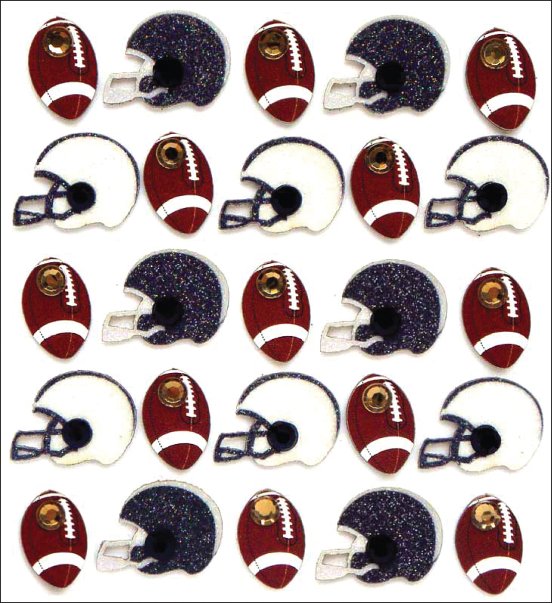 Jolee-039-s-Boutique-Dimensional-Stickers-Footballs-amp-Helmets