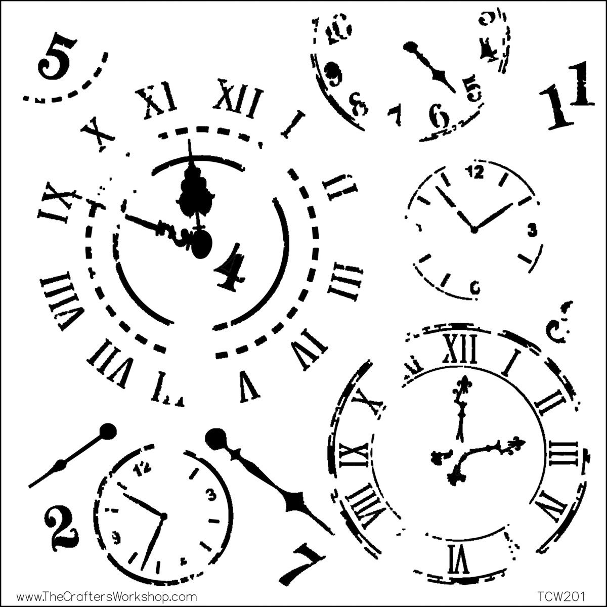 """Crafter's Workshop Template 12""""X12""""-Time Travel"""