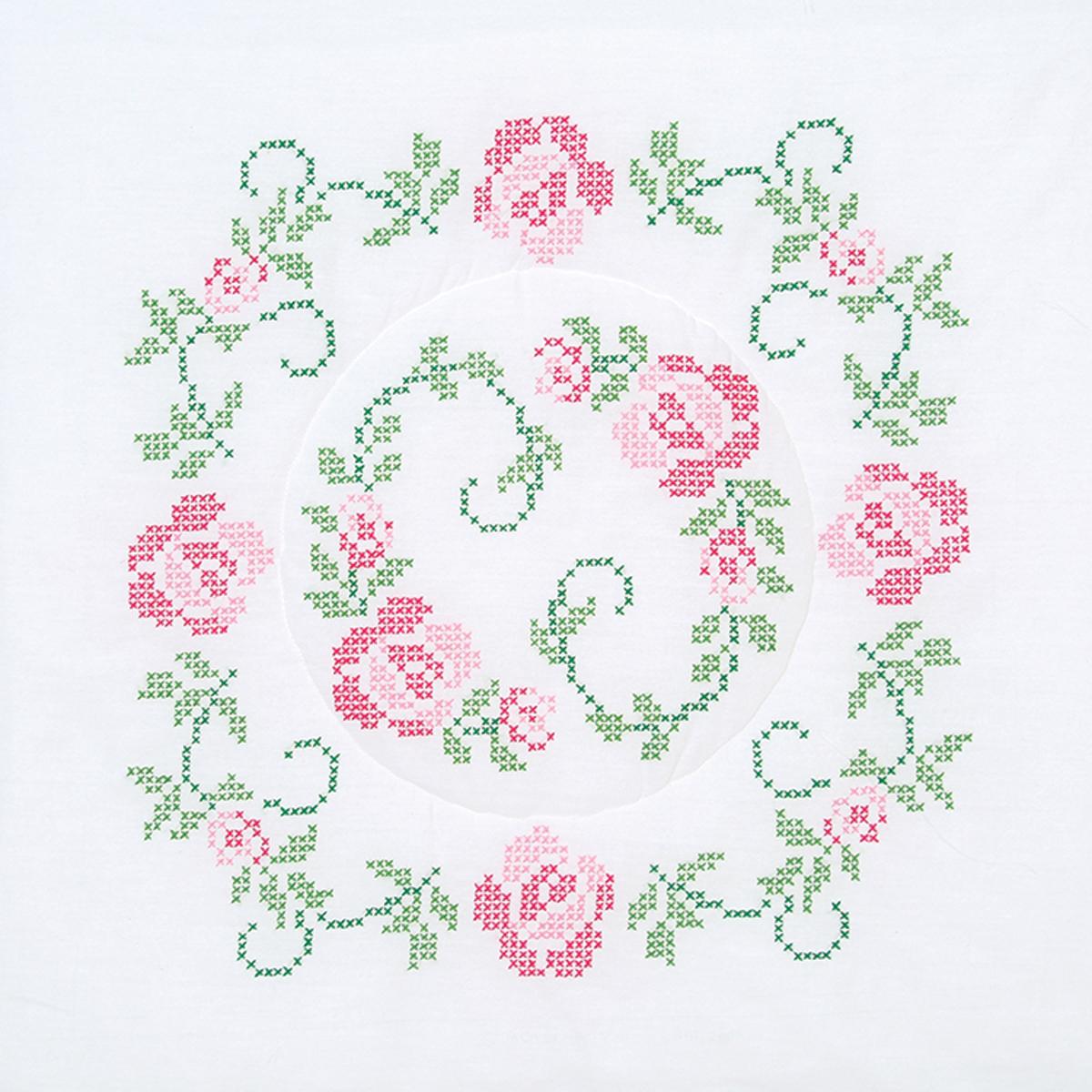 Stamped-White-Quilt-Blocks-18-034-X18-034-6-Pkg-XX-Circle-Of-Roses