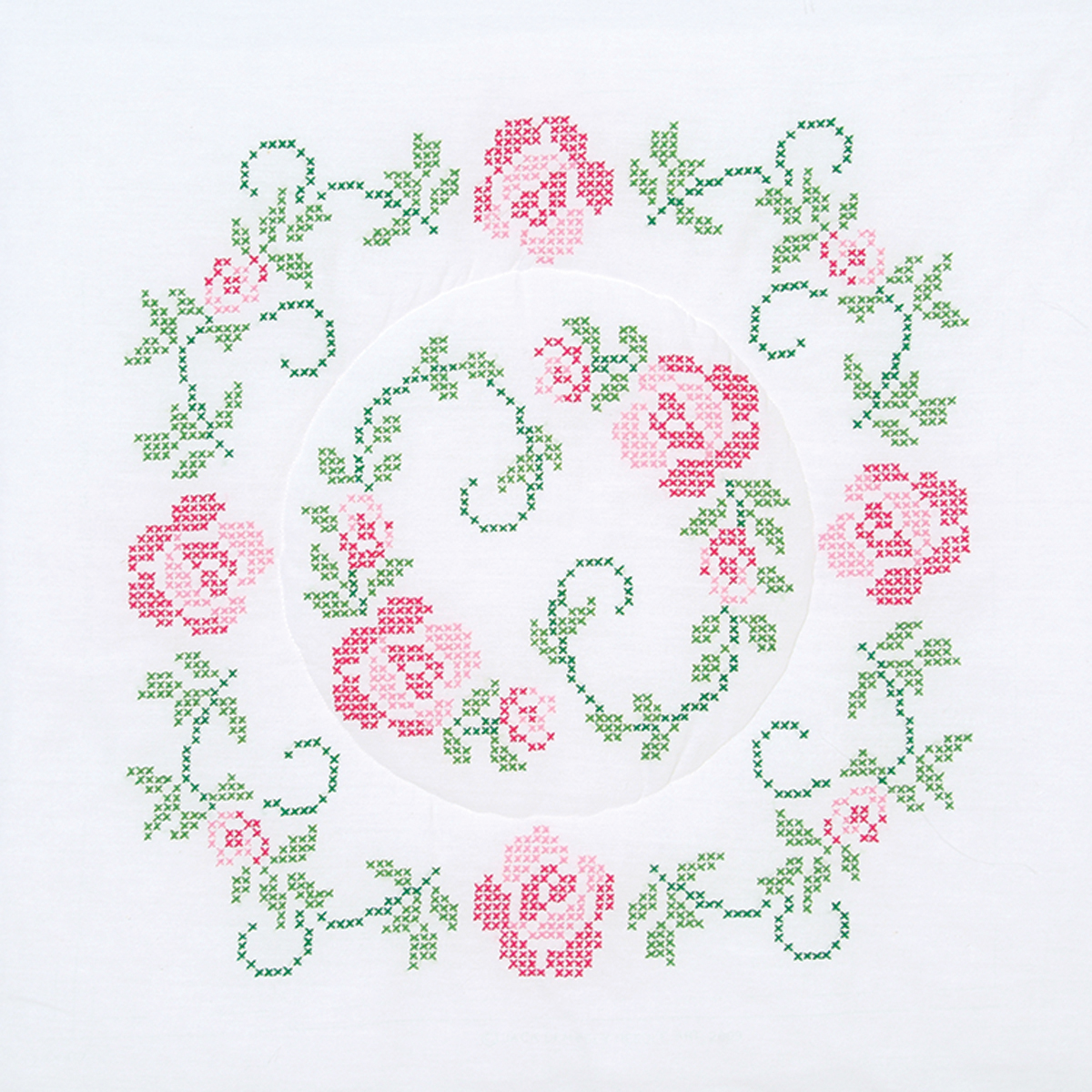 Stamped-White-Quilt-Blocks-18-034-X18-034-6-Pkg-XX-Circle-Of-Roses