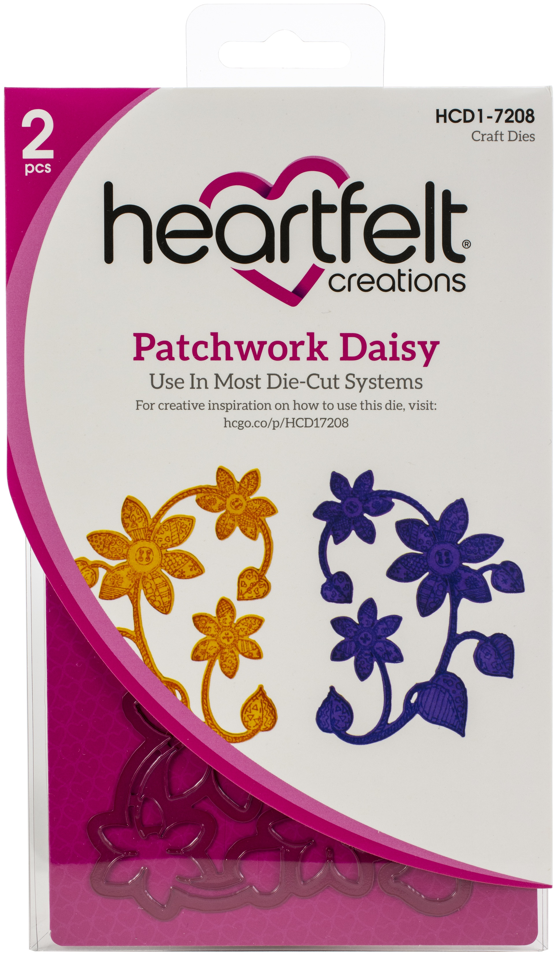 Heartfelt Creations Spellbinders Die ~ PATCHWORK DAISY ~ HCD1-7208