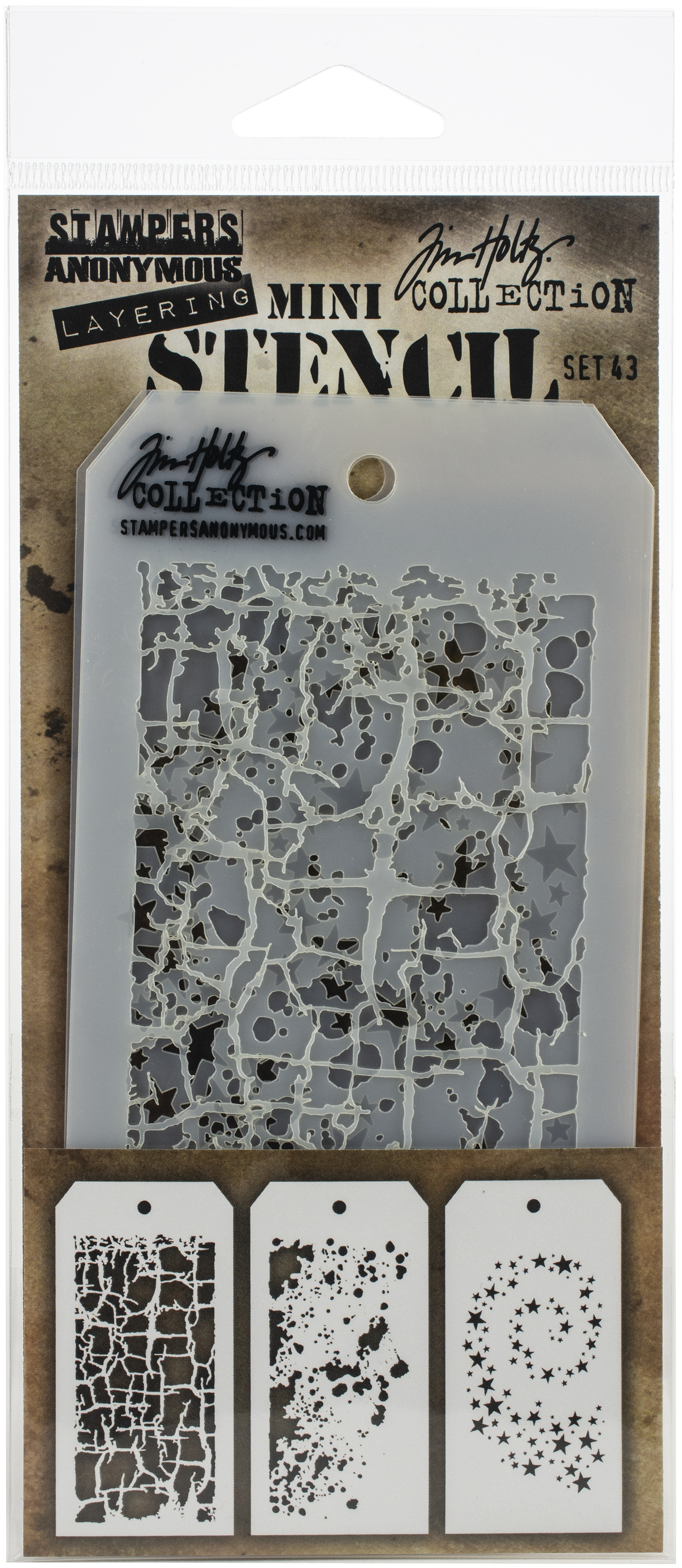 Tim Holtz Mini Layering Stencil ~ SET 43 ~ THMST043 ~ Stampers Anonymous